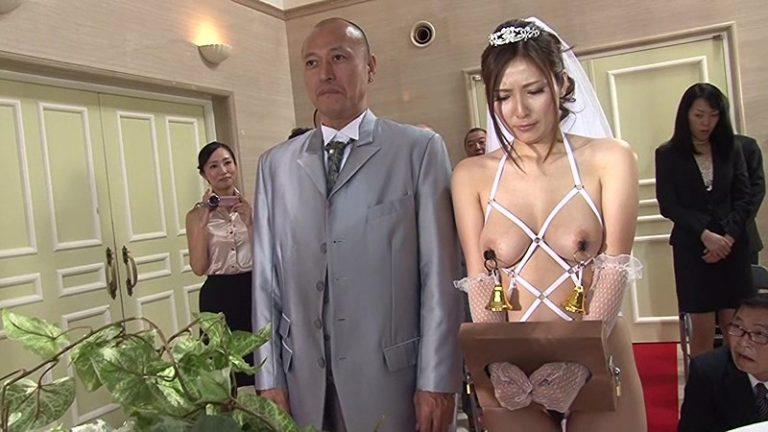 屈辱と恥辱のウエディングドレス 奴隷花嫁 椎名ゆな