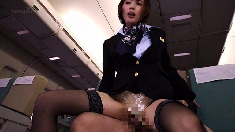 「制服・下着・全裸」でおもてなし またがりオマ○コ航空 8 色白モチモチ極上ヒップで、お客様支持率ナンバー1の客室乗務員 本田岬