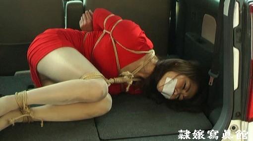 熟女緊縛 車中緊縛の人妻 市川彩香