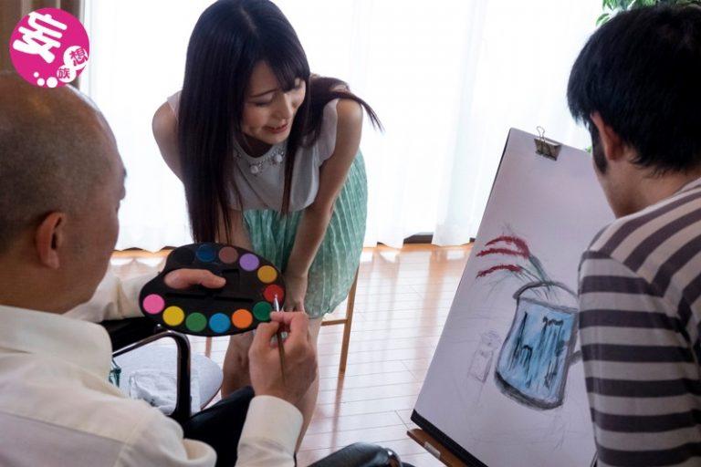 巨匠にヌードを描かれた妻 巨乳新妻女性器デッサンNTR 国見みすず